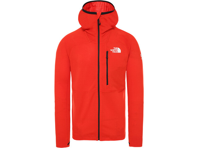The North Face L2 Power Grid Light Veste à capuche en duvet Homme, fiery red